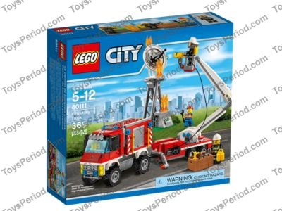 LEGO 60111 Fire Utility Truck Set Parts Inventory and