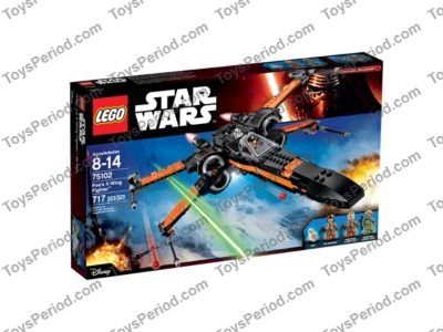 Star Wars Display stand angled for Lego 75102 Poe/'s X-Wing Fighter