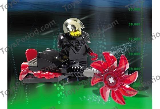 Lego Ogel Minifig Lot Alpha Team mission deep sea vintage Trans-Red Hook black