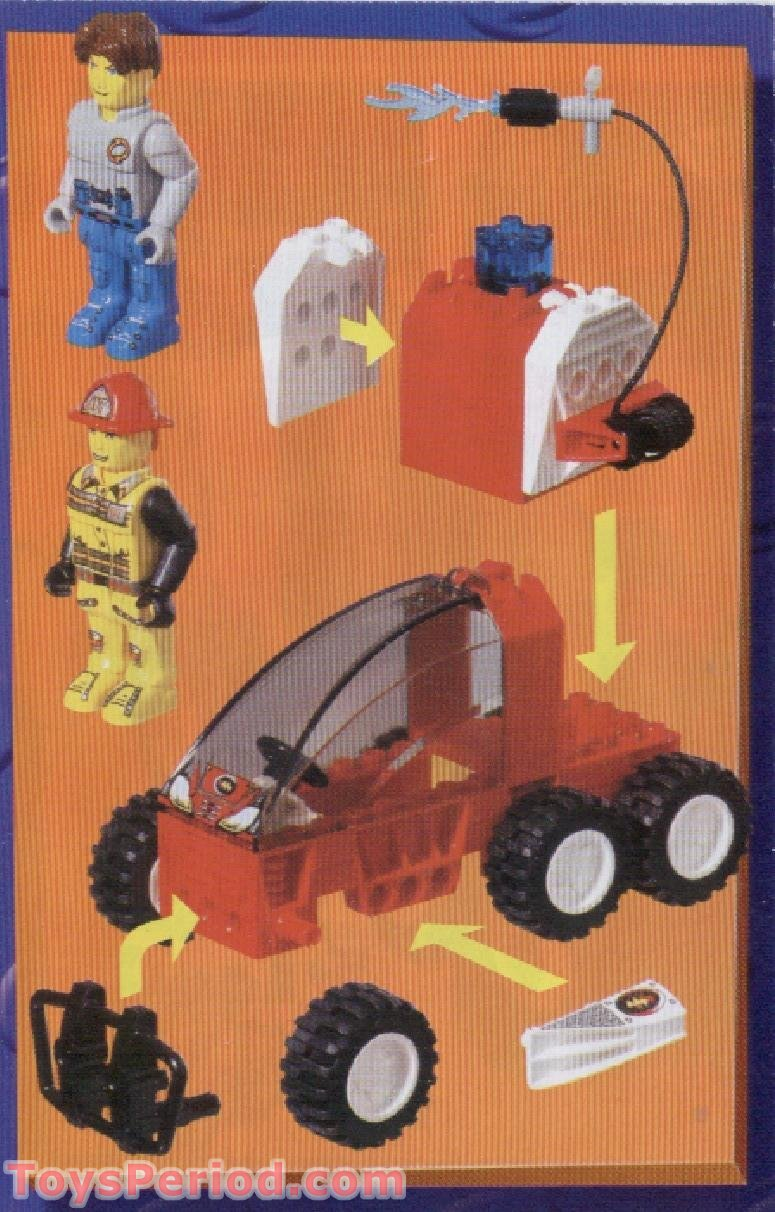 LEGO 4605 Fire Response Suv Set Parts Inventory and