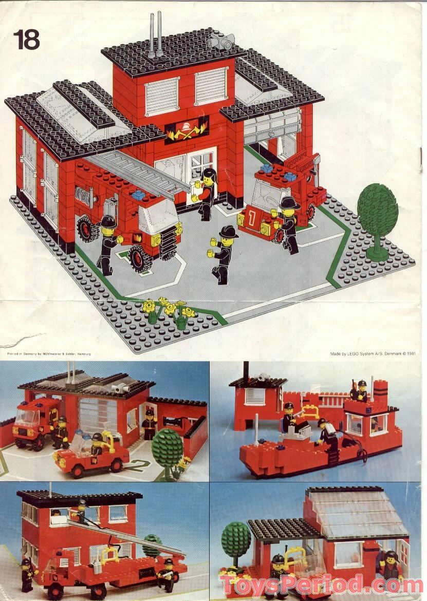 Lego 6382 Fire Station Set Parts Inventory And Instructions Lego