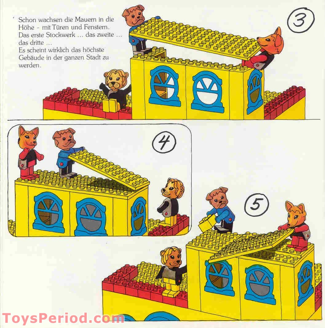 Lego 350 3 Town Hall With Leonard Lion And Friends Set Parts
