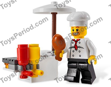 Lego 8398 Bbq Stand Set Parts Inventory And Instructions Lego