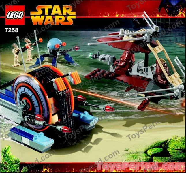 LEGO 7258 Wookiee Attack Star Wars Battle Droids vs Wookiees Image