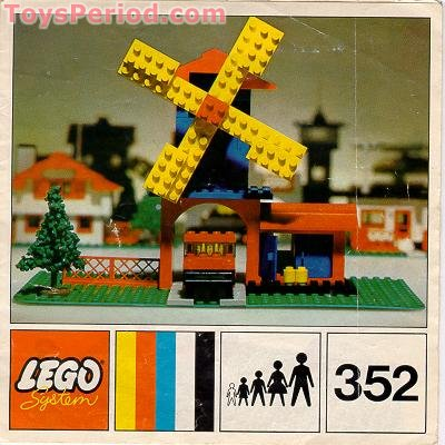 LEGO 352 Windmill and Lorry Set Parts Inventory and Instructions ...