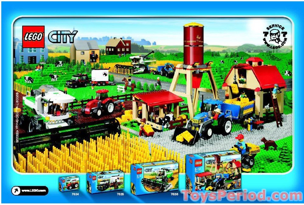 Lego 4899 Tractor Set Parts Inventory And Instructions