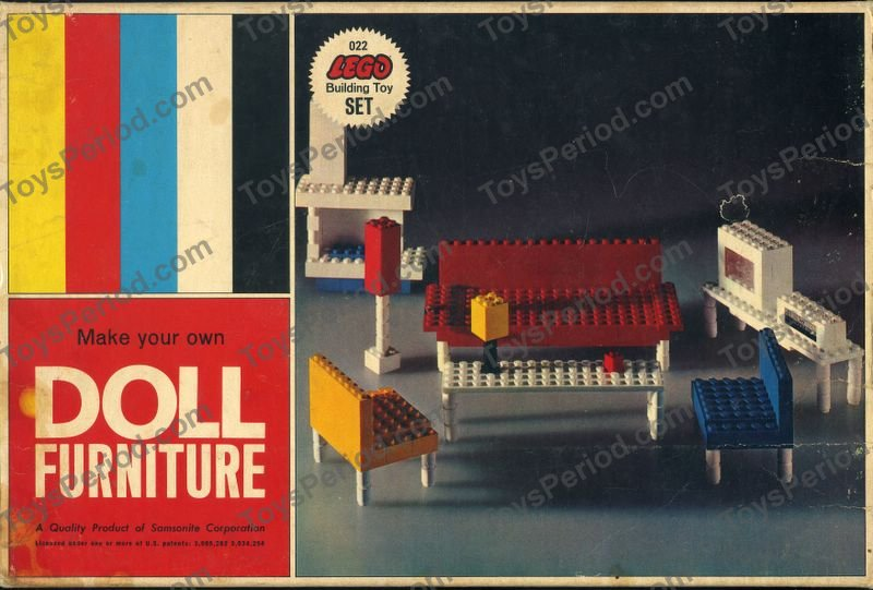 LEGO 022-2 Doll Furniture Set Parts Inventory and Instructions ...