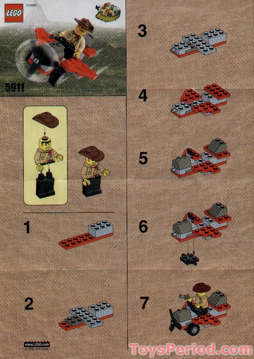 Lego 5911 Johnny Thunder S Plane Set Parts Inventory And