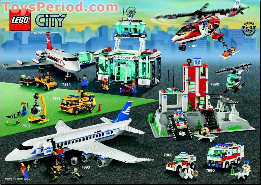Lego 7893 1 Passenger Plane Set Parts Inventory And Instructions