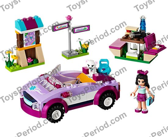 New LEGO Lot of 8 Magenta 1x1 Plates with Clip Light Girls Friends Parts Pieces