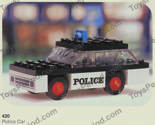 LEGO 420-1 Police Car Set Parts Inventory and Instructions