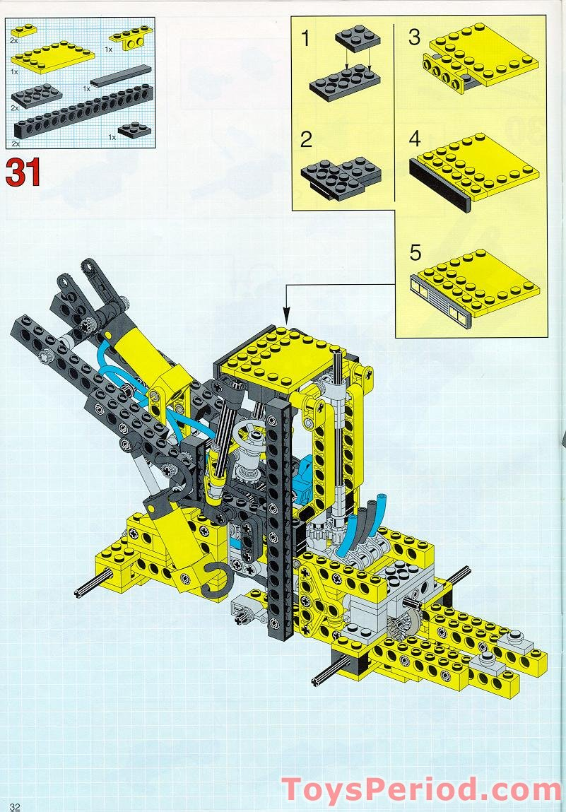 lego front end loader instructions