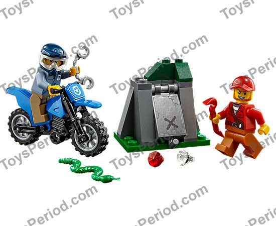 NEW Sealed LEGO City 60170 Off-Road Chase 37 Pcs w// 2 Minifigs Police Motorcycle