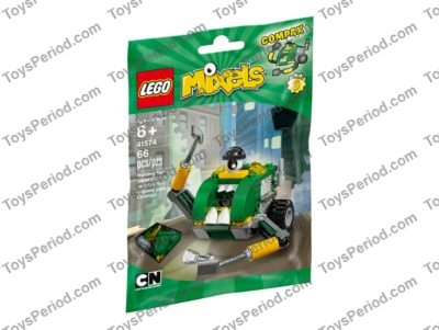 Lot Of 3 Green Bags LEGO Mixels Series 9 41572Gobbol 41573Sweepz 41574Compax