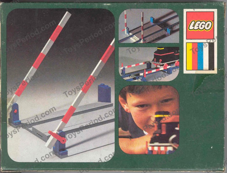 LEGO 158 Railroad Crossing Gate Set Parts Inventory and Instructions