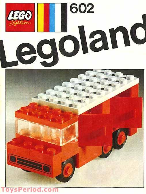 LEGO 602-2 Legoland Fire Truck Set Parts Inventory and ...