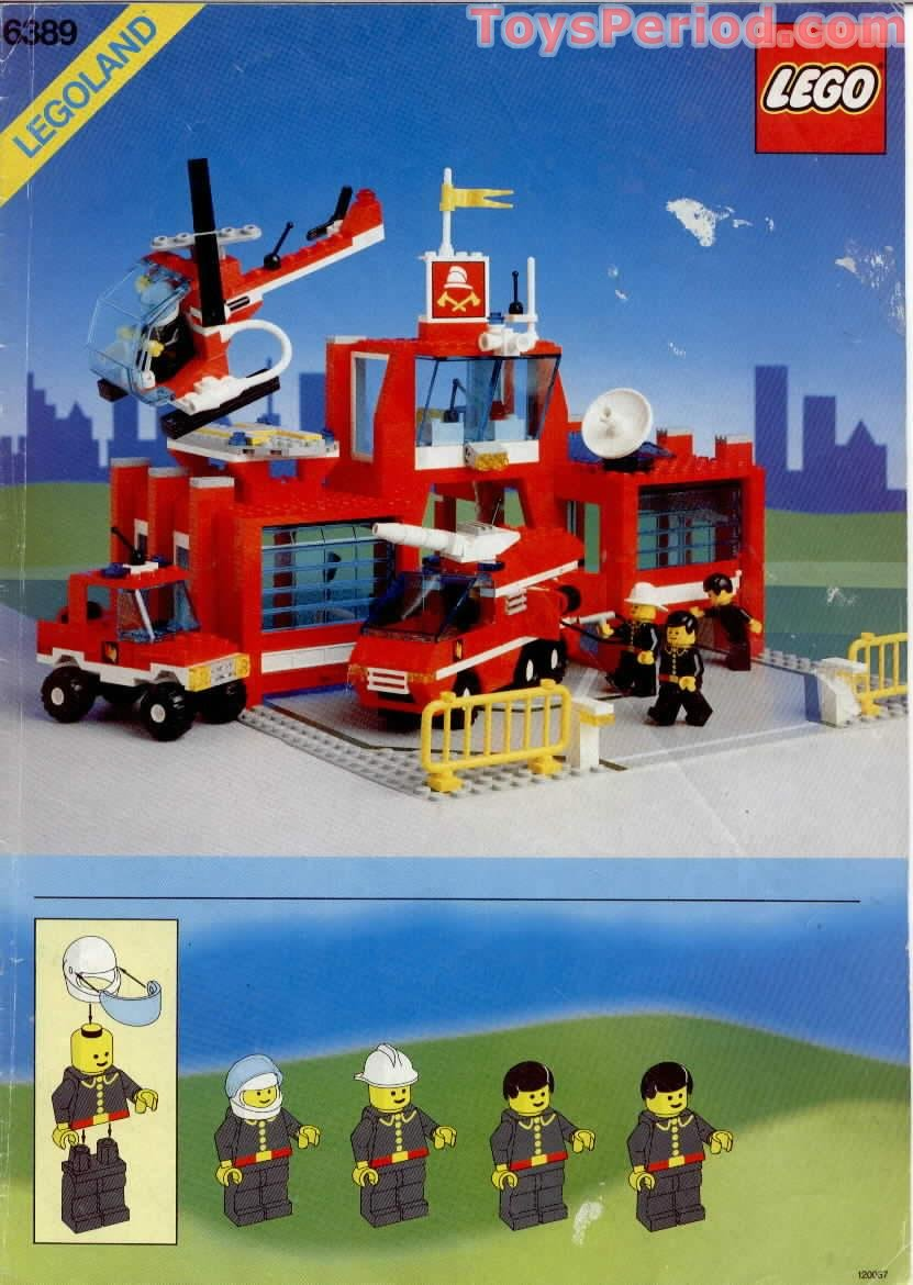Lego 6389 Fire Control Center Set Parts Inventory And Instructions