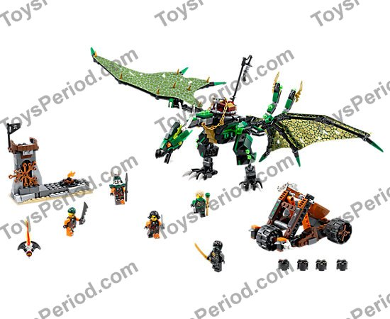 Lego 5 New Green Cattle Horn Pieces Long