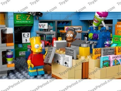 The Simpsons LEGO x 3 Red Brick 1 x 2 x 2 with /'KRUSTY O/'s/' Cereal Box NEW
