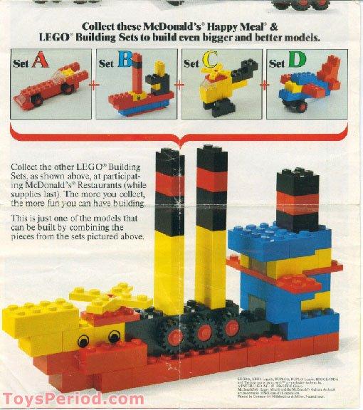 Lego 1912 Mcdonalds Promotional Set A Car Set Parts Inventory And