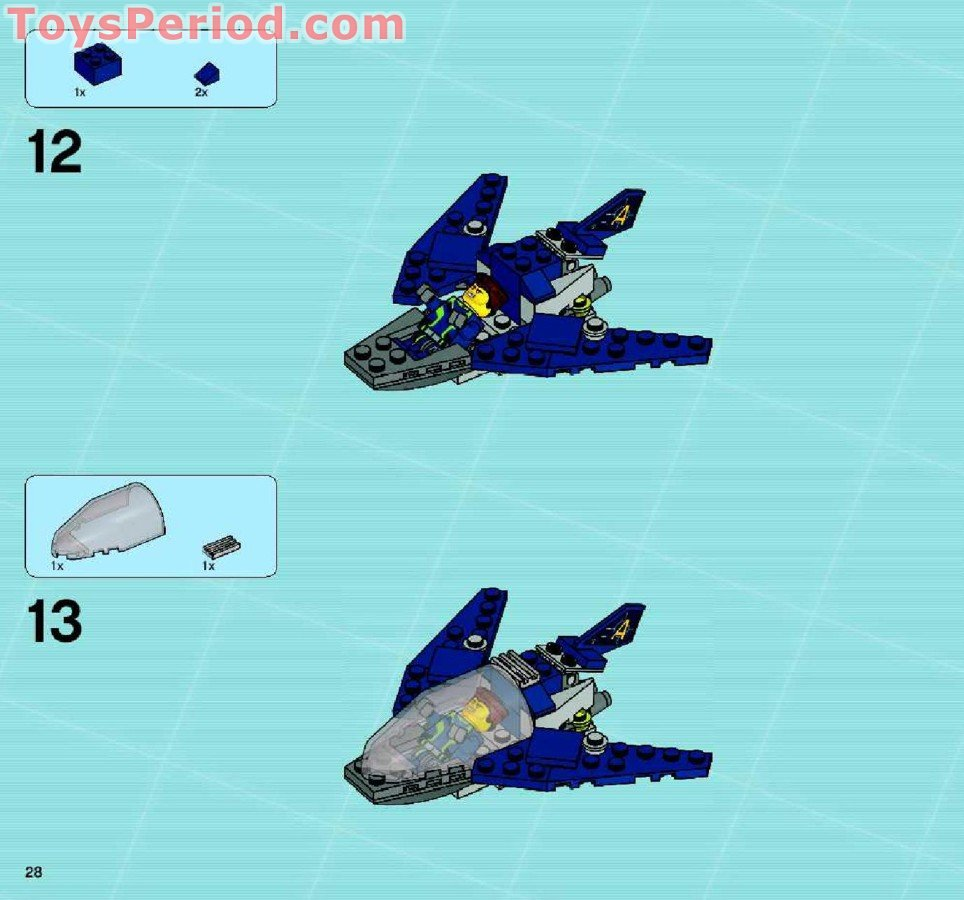 lego agents mobile command center instructions
