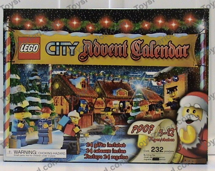 Lego 7907 1 Advent Calendar 2007 City Set Parts Inventory