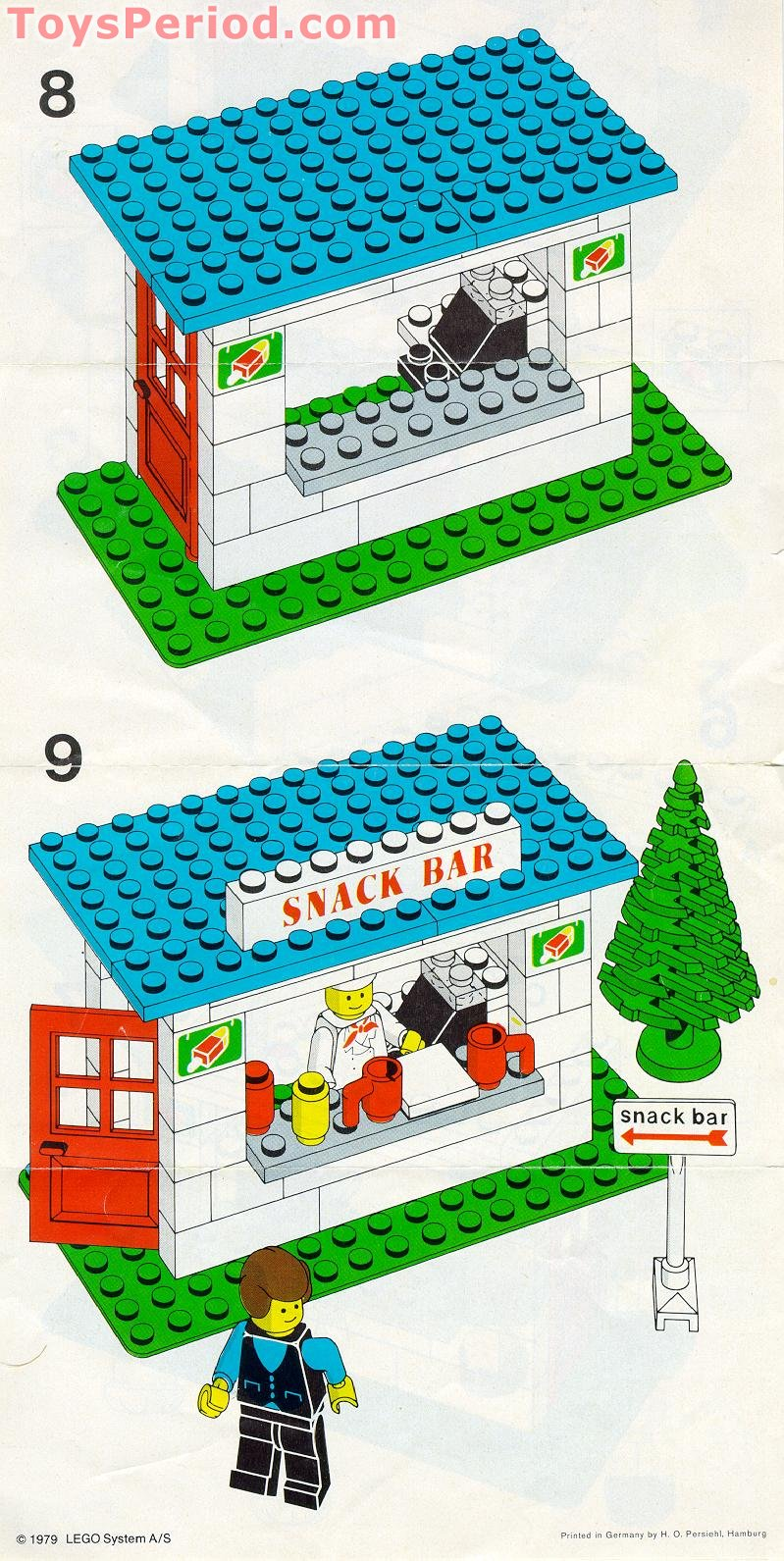 lego 675 snack bar set parts inventory and instructions lego reference guide. Black Bedroom Furniture Sets. Home Design Ideas