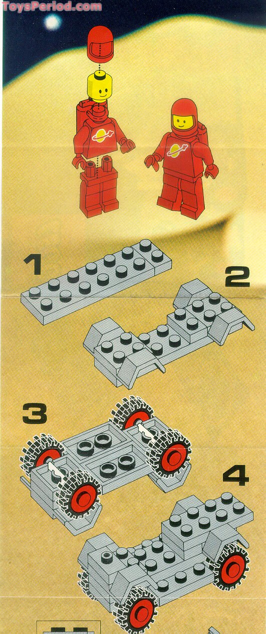 Lego 889 Radar Truck Set Parts Inventory And Instructions Lego