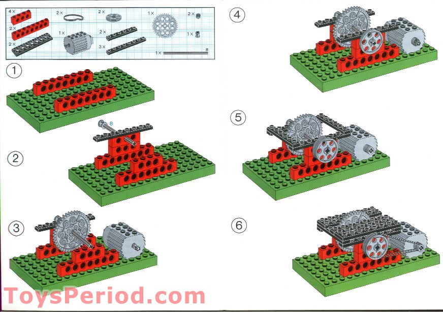 Lego 1033 Building Instructions For Set 1032 Set Parts Inventory And