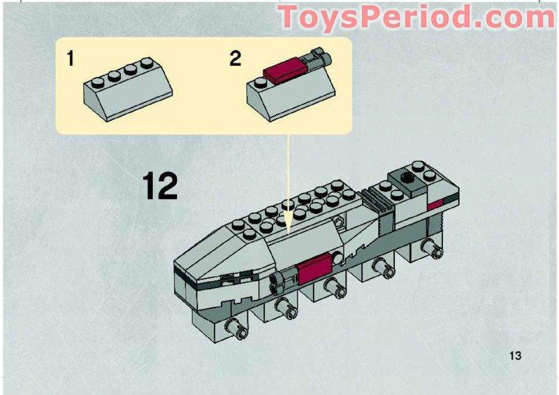 how to build a lego tank mini