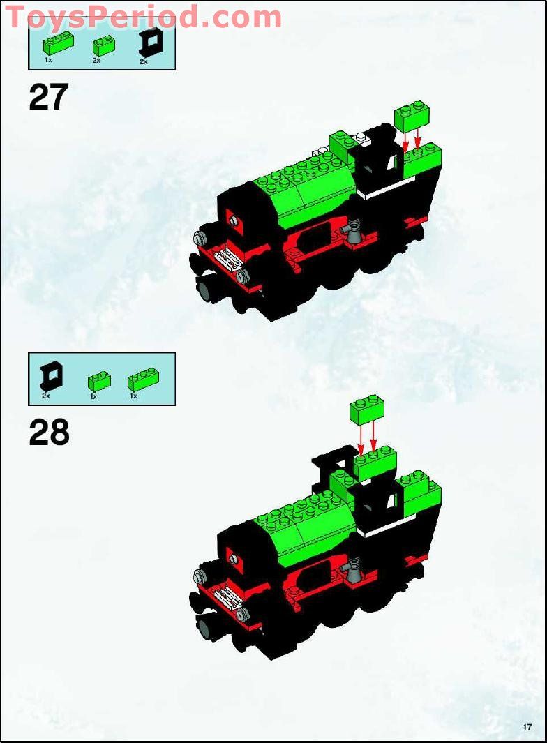 Lego 10173 Holiday Train Set Parts Inventory And