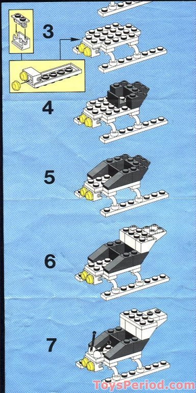 Lego 6642 Police Helicopter Set Parts Inventory And