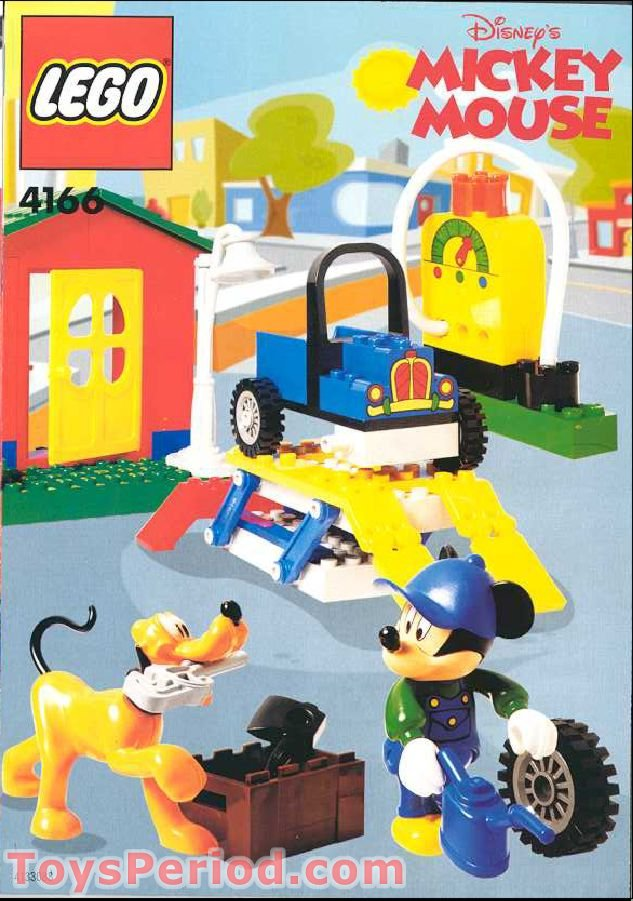LEGO 4166 Mickey's Car Garage Set Parts Inventory and