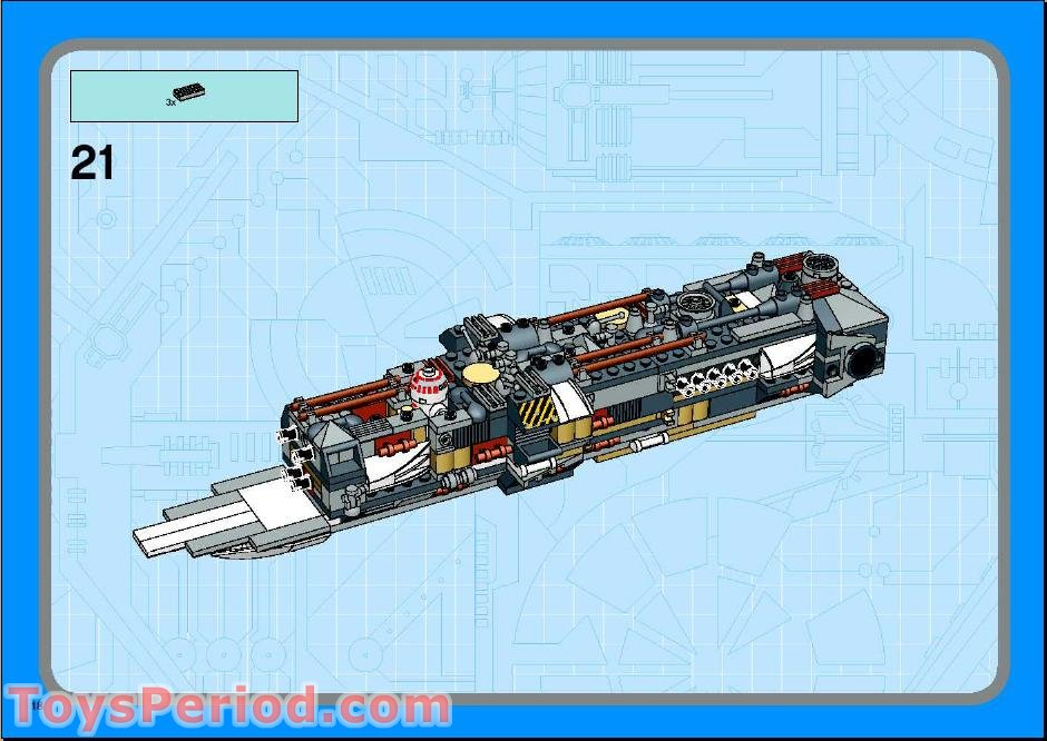 LEGO White 33 3x3 Slope Double Convex Star Wars 10134