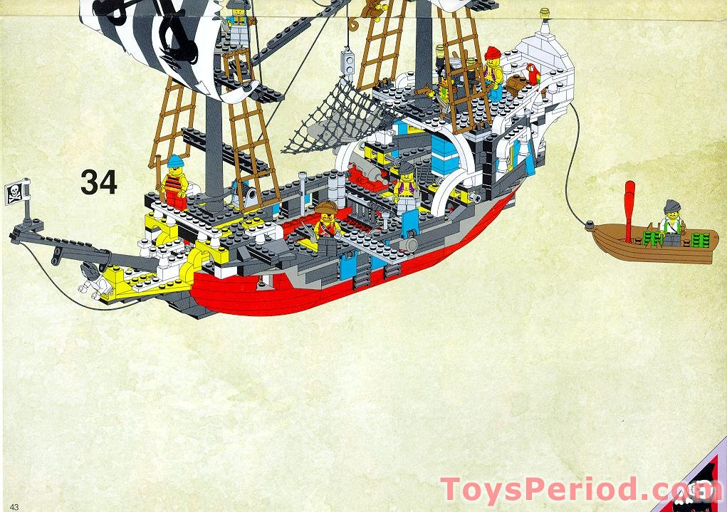 lego pirate ship instructions 10040
