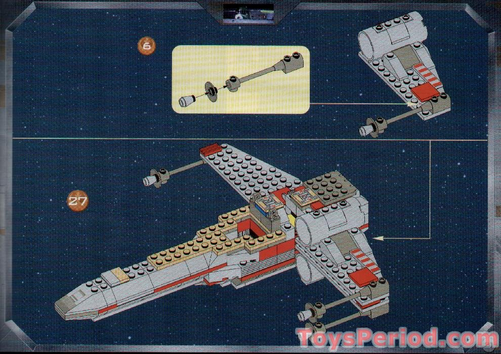 LEGO 7140 X-Wing Fighter Set Parts Inventory and Instructions - LEGO ...