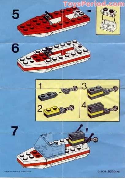 LEGO 1632 Speed Boat Set Parts Inventory and Instructions - LEGO ...