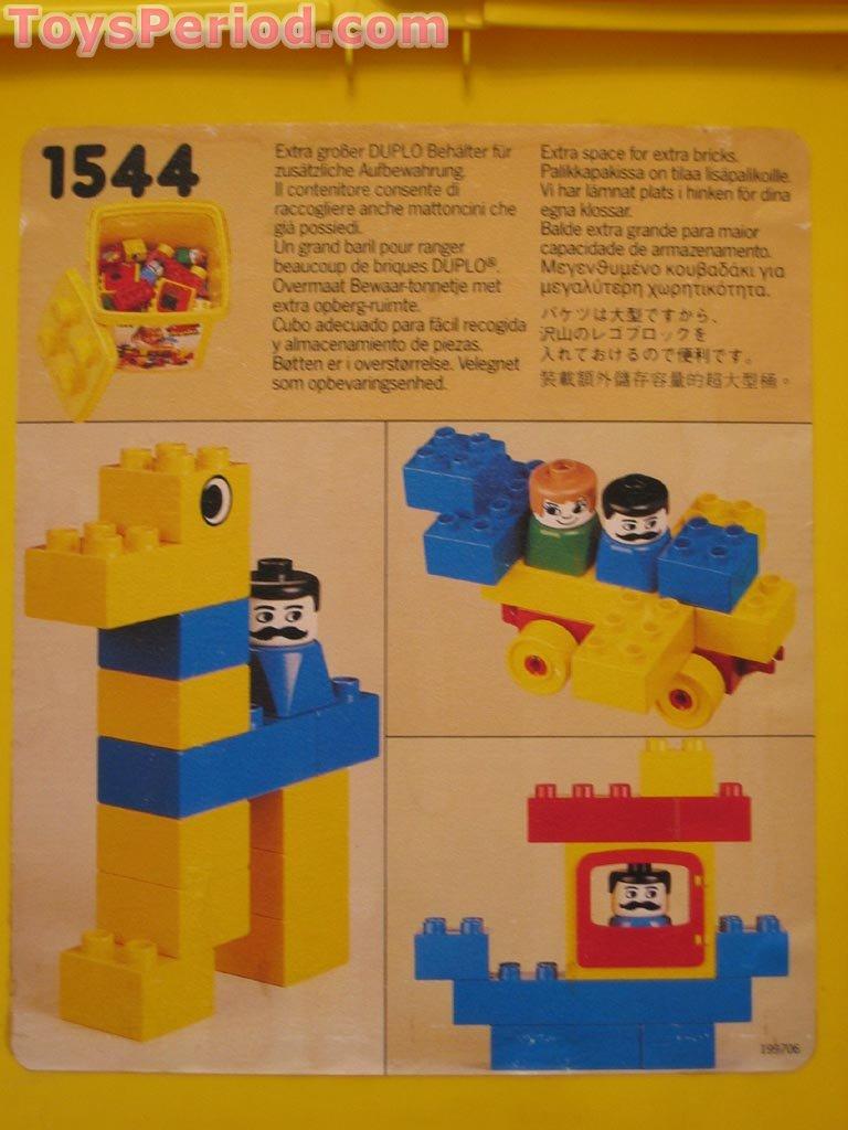 Lego 1544 Medium Duplo Bucket Set Parts Inventory And Instructions