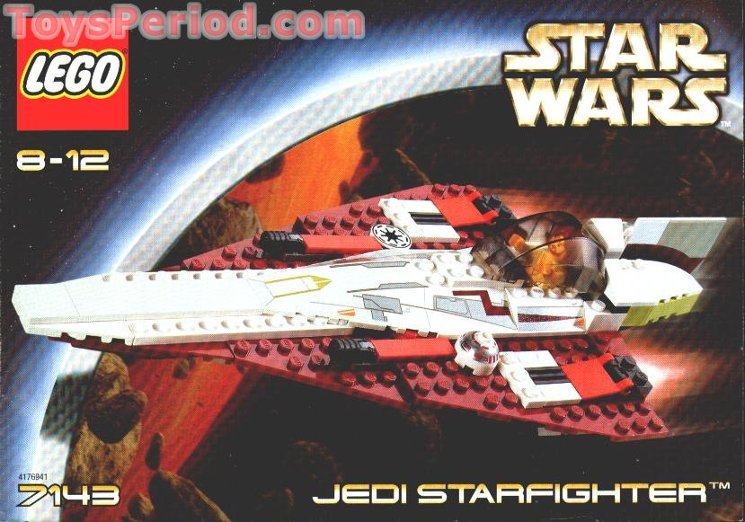 Lego 7143 Jedi Starfighter Set Parts Inventory And Instructions