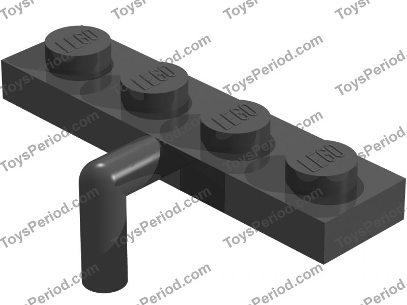 20x LEGO Black Modified Plate 1 x 4 w//Arm Down Hook Hanger Boat Mast #30043