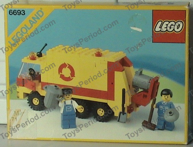 Lego 6693 Refuse Collection Truck Set Parts Inventory And