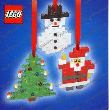 LEGO 4759 Three Christmas Decorations - Santa, Tree and Snowman Image ...