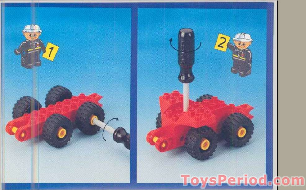Lego 2935 Fire Truck Set Parts Inventory And Instructions Lego