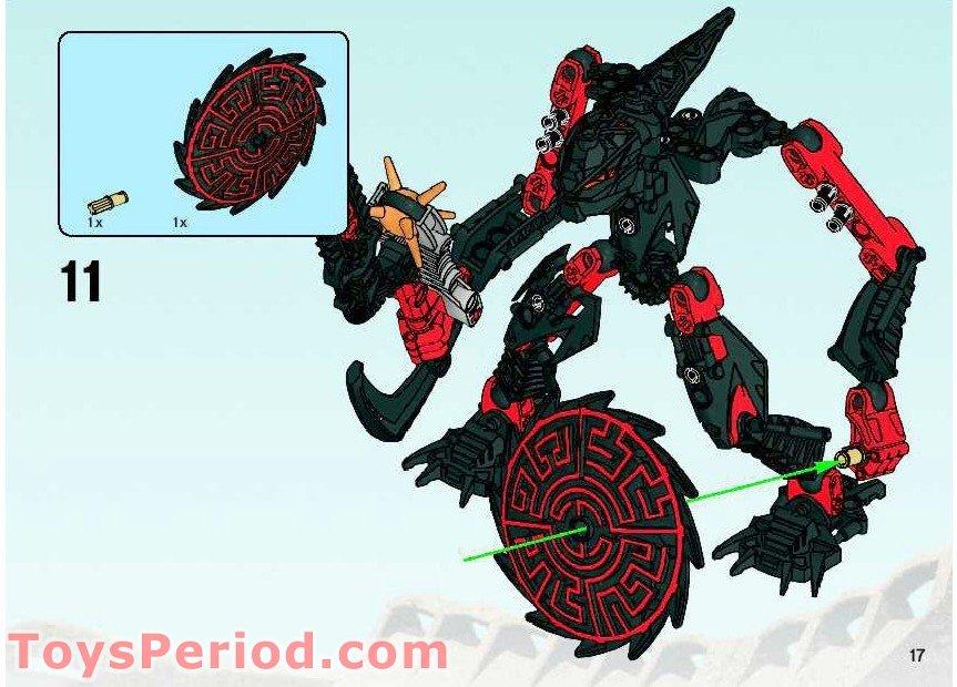 CN44 notice Lego 8978 Bionicle Glatorian Skrall complet de 2009
