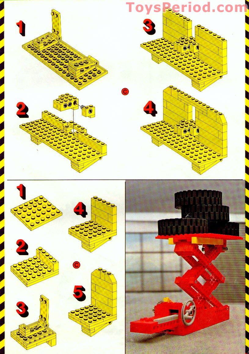 LEGO 853 Auto Chassis Set Parts Inventory and Instructions - LEGO