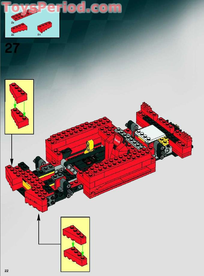 Lego 8143 Ferrari 1 17 F430 Challenge Set Parts Inventory And Instructions Lego Reference Guide