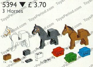 LEGO 4491b Green Horse Saddle with Two Clips