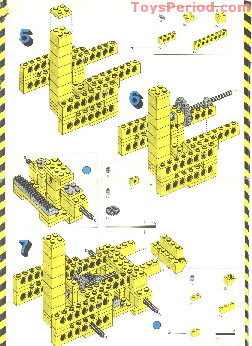 lego 850 fork lift truck set parts inventory and