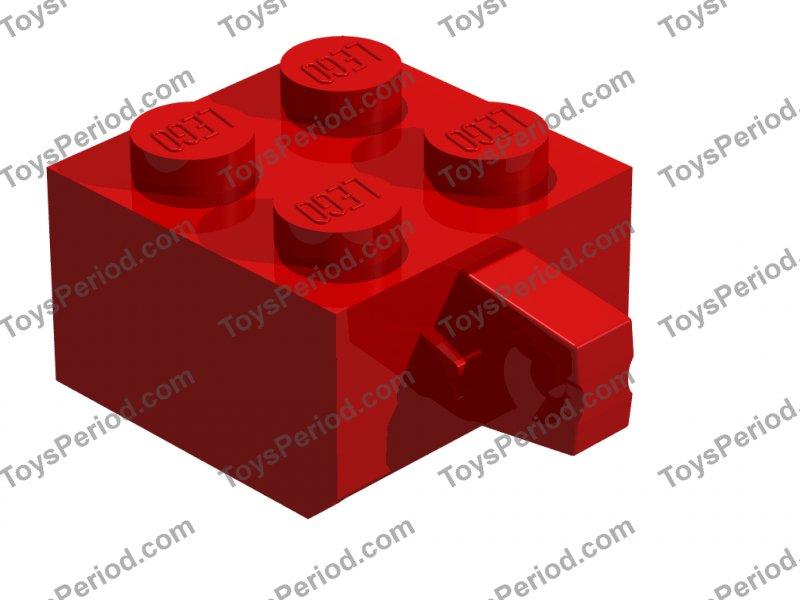 Legos 4 NEW Hinge Brick 2x2 Locking 1 /& 2 Finger Black