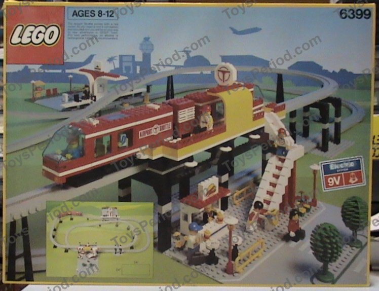 Lego 6399 Airport Shuttle Set Parts Inventory And Instructions